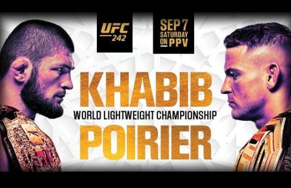 Смотреть прямую онлайн трансляцию UFC 242 Нурмагомедов Порье